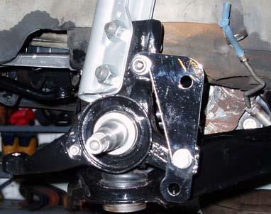 82-92 Thirdgen Camaro, Firebird (F-Body): Modified spindle mounted on car