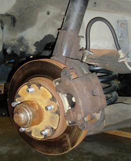 82-92 Thirdgen Camaro, Firebird (F-Body): Stock, Factory Front Brake Setup side view