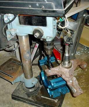 82-92 Thirdgen Camaro, Firebird (F-Body): Spindle sheild bolts drilling