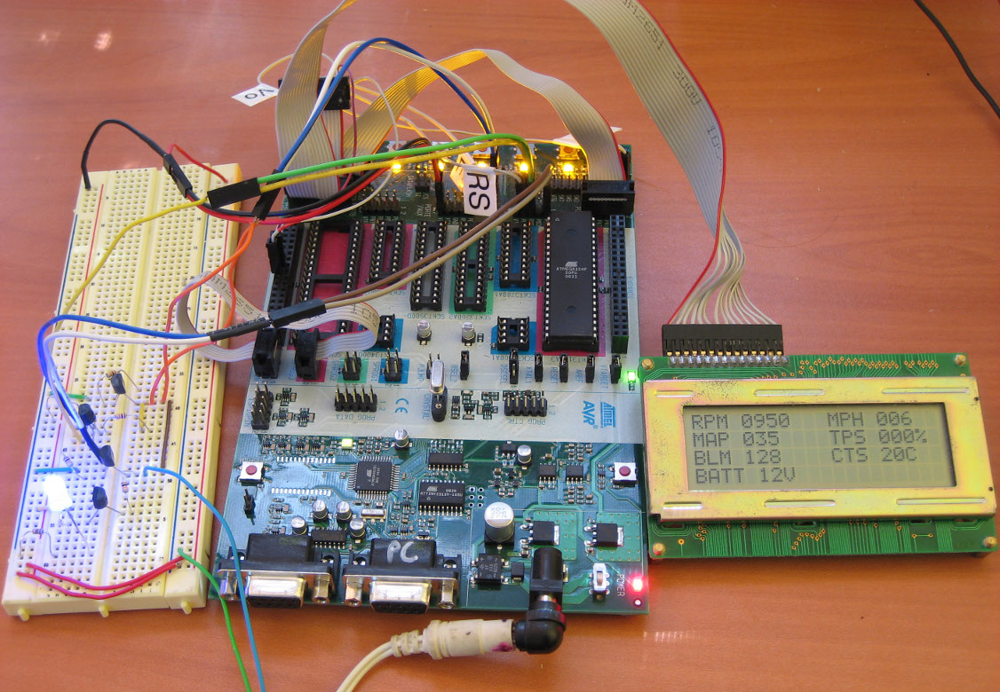 gm obd i obd1 aldl microcontroller lcd interface scan tool gm obd i aldl avr lcd interface pulling data off a 7730 8d ecu