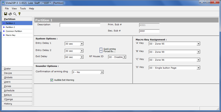 Honeywell Compass software - edit configuration