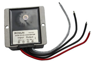 24V to 12V power supply - back view