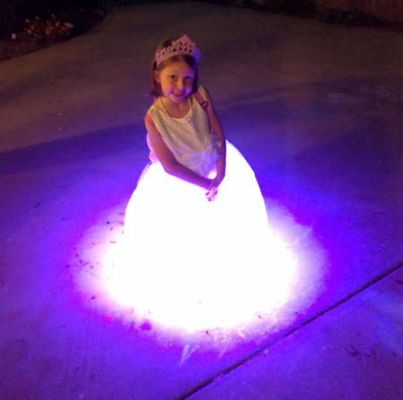 Finished LED dress on my niece