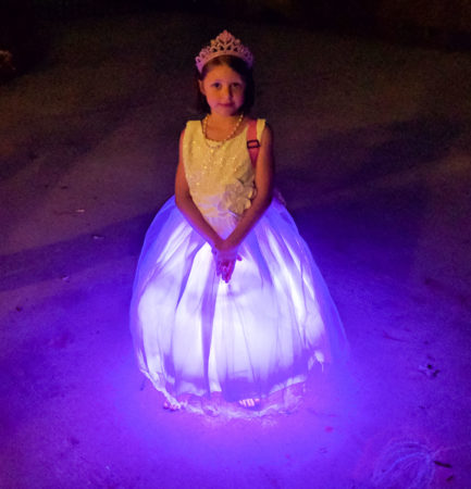 Finished LED princess dress on my niece