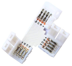 LED strip 3-way connector