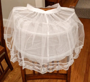Unmodified petticoat / undershirt